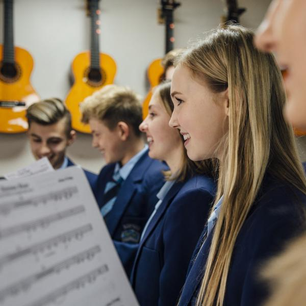 Image of Secondary School Music Class (Shutterstock)