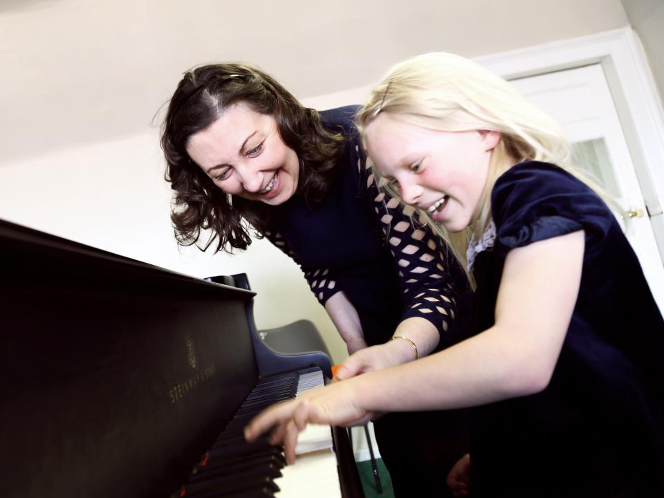 Piano student with Thérèse Fahy