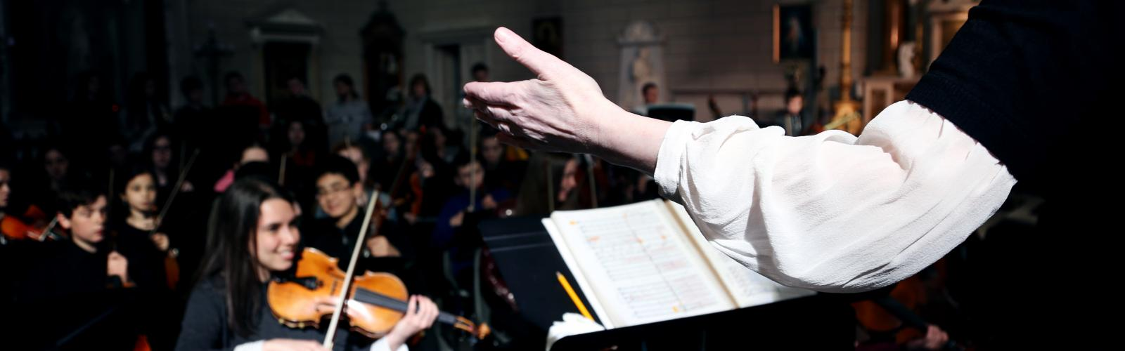 Conductor's hand, RIAM Symphony Orchestra