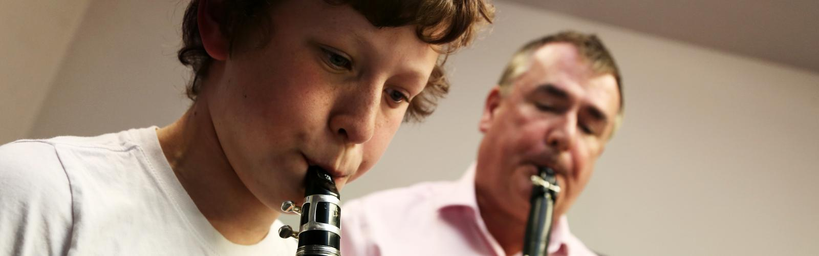 Clarinet student and teacher, RIAM