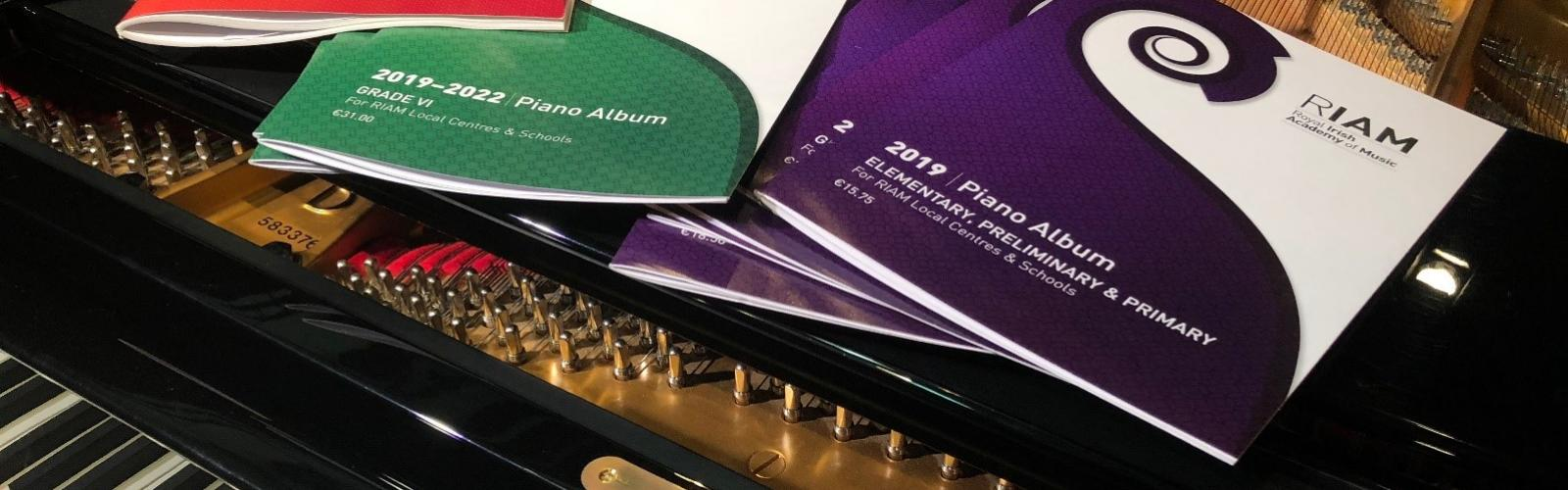 Piano albums on piano